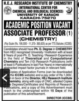 University Of Karachi Jobs 2020