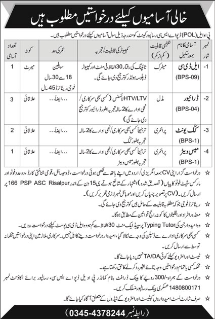 Advertisement of Pakistan Army Jobs September 2020