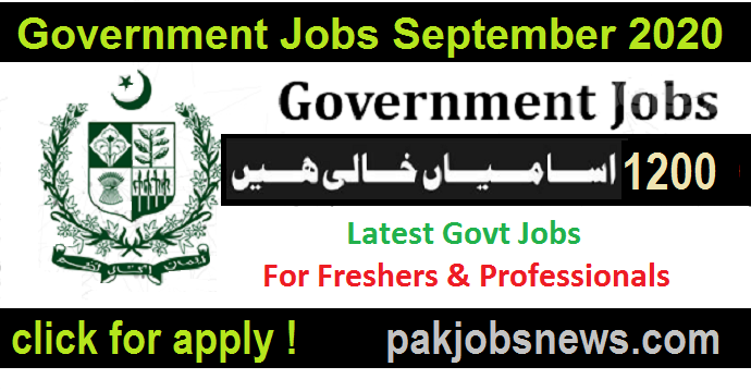 Government Jobs in September 2020
